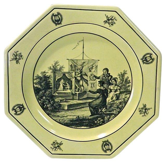 Empire Garden Scene Mottahedeh Plate