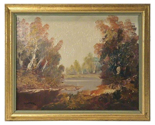 Hofer Mountain Lake Oil Painting