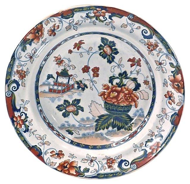 Antique Porcelain Floral Ironstone Bowl