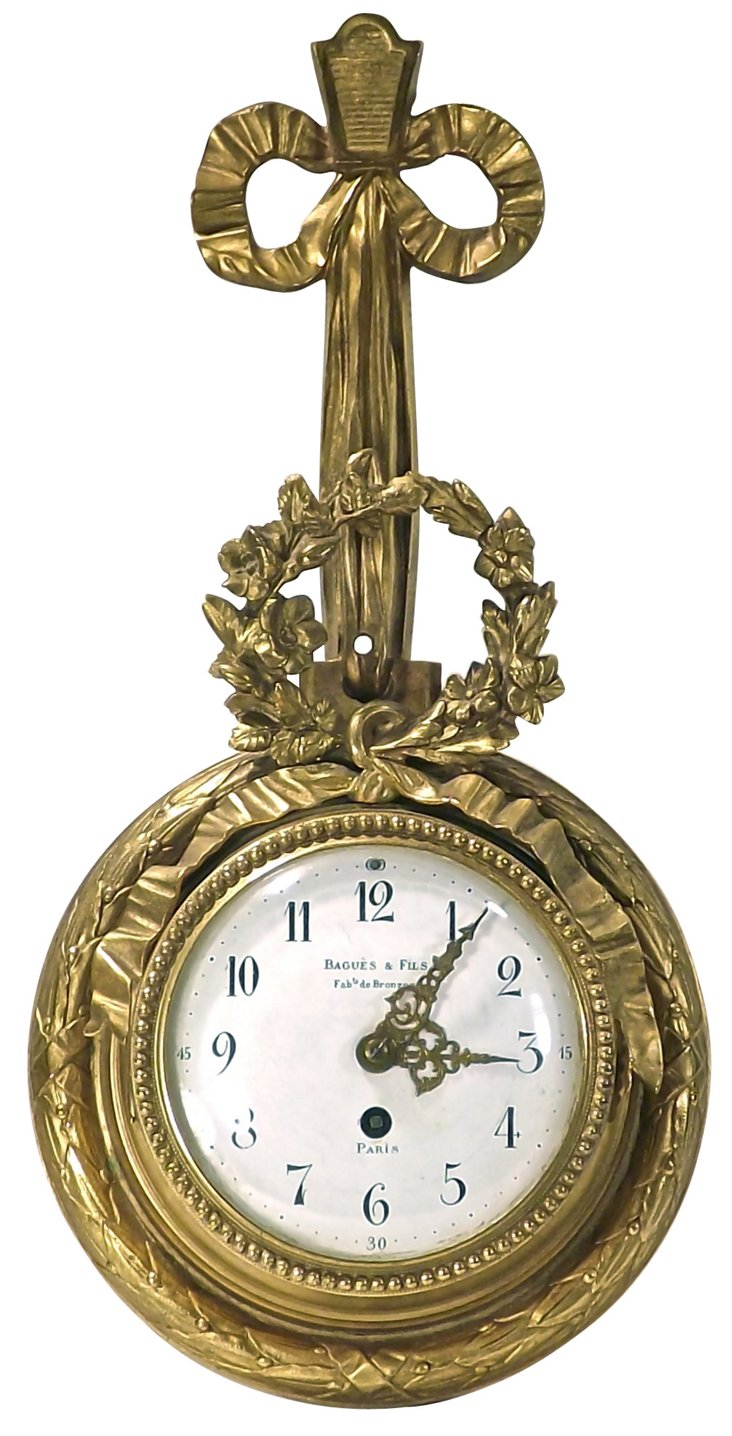 Antique French Empire Wall Clock