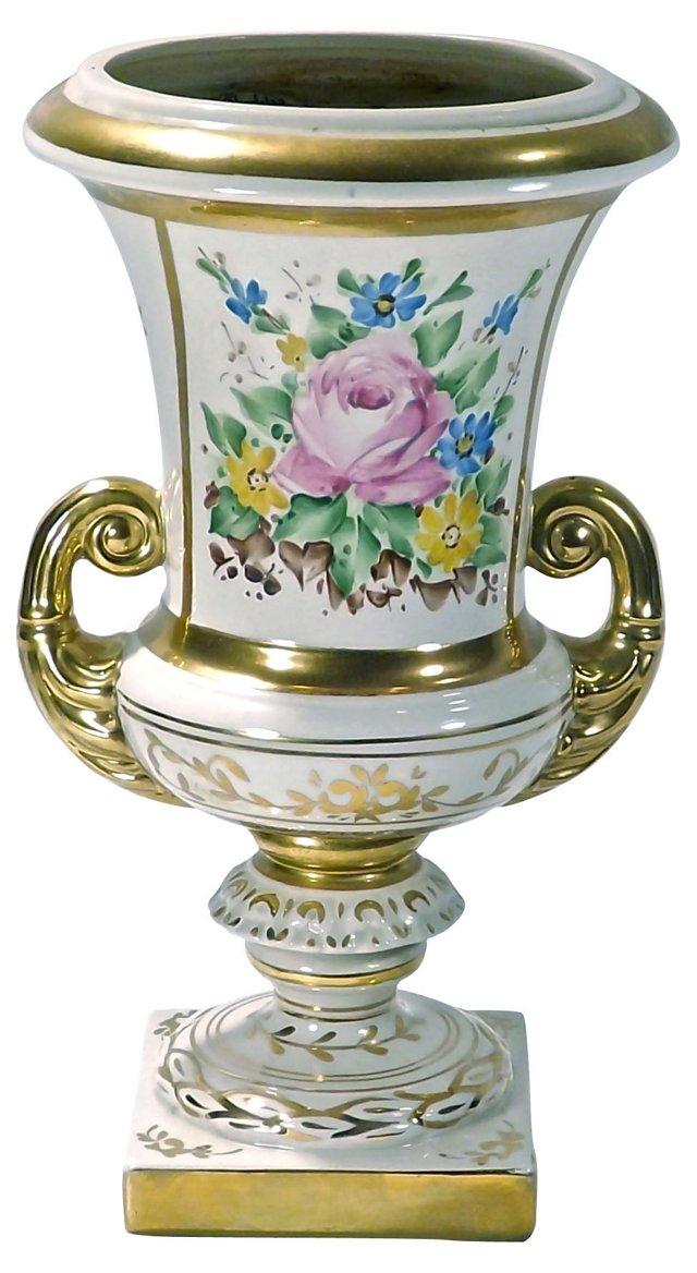 Antique Paris Porcelain Floral Urn
