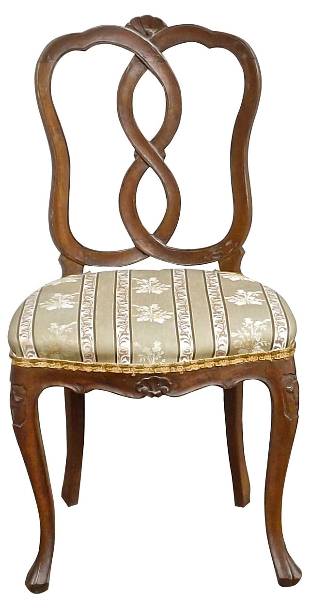 Italian Hand-Carved Side Chair