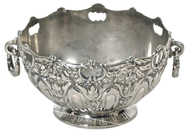 Antique Silver Acanthus Leaf Bowl