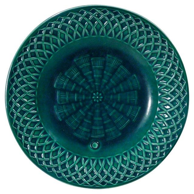 Antique Minton Basket Weave Plate