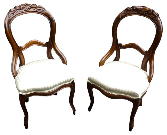 Victorian Carved Chairs, Pair