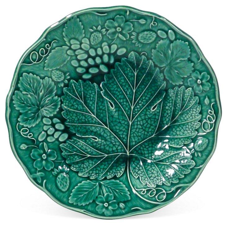 Antique  Majolica Grape Leaf Plate