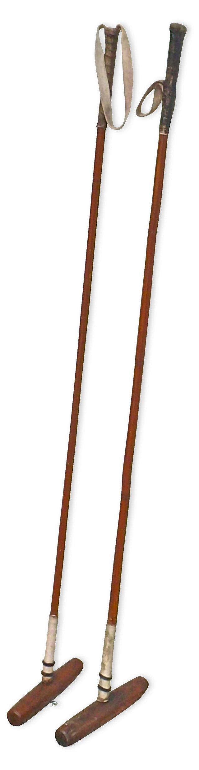 Antique Polo Mallets, Pair