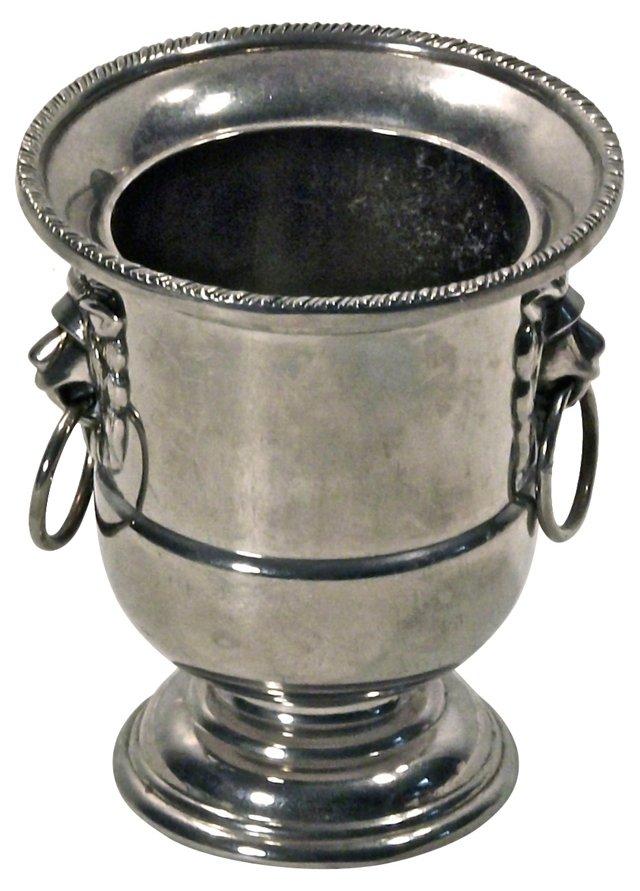 Small Silverplate Lion Urn