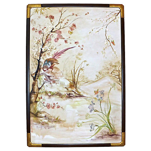 Lakides Chinoiserie Bird Painting
