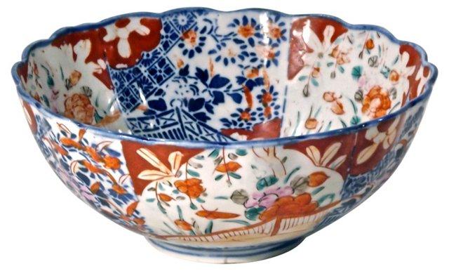 Antique Porcelain Floral Imari Bowl