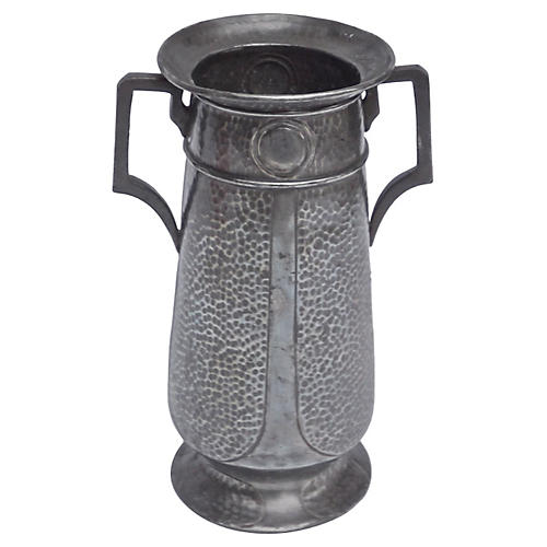 Antique Art Nouveau Pewter Urn Vase