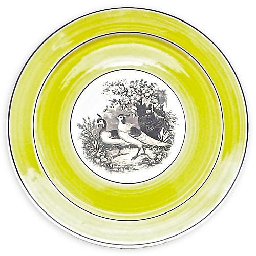 German Mottahedeh Birds Plate