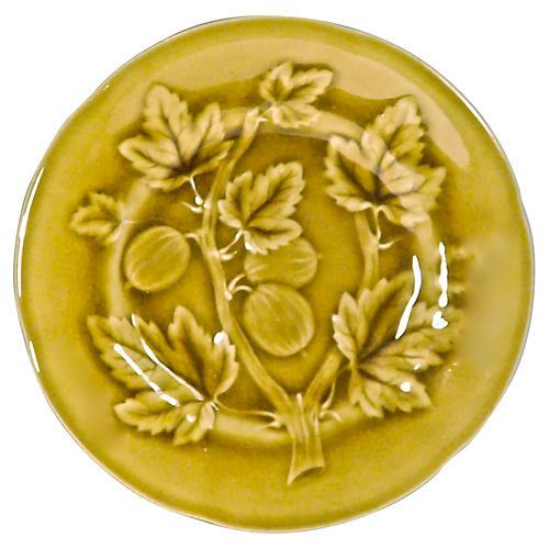 Choisy Le Roi Majolica Gooseberry Plate