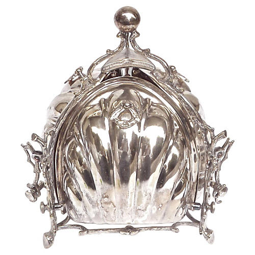 Antique Silver Biscuit Holder