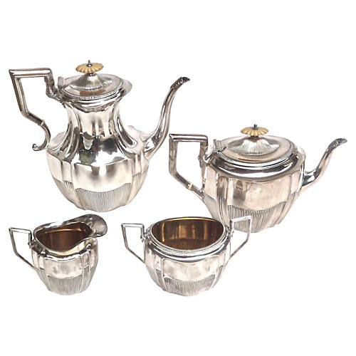 Art Deco Silver Coffee & Tea Service