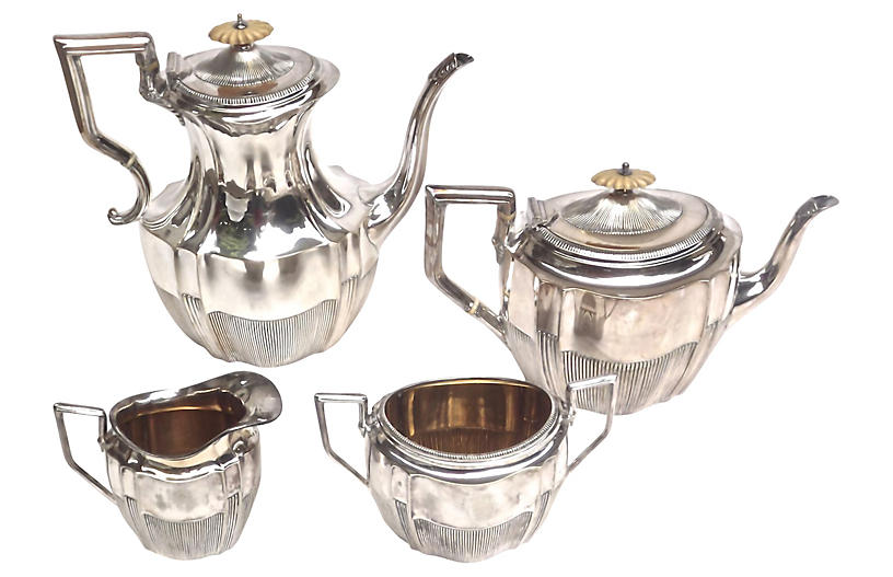 Art Deco Silver Coffee & Tea Service