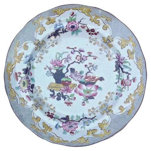 Antique Minton Porcelain Floral Plate