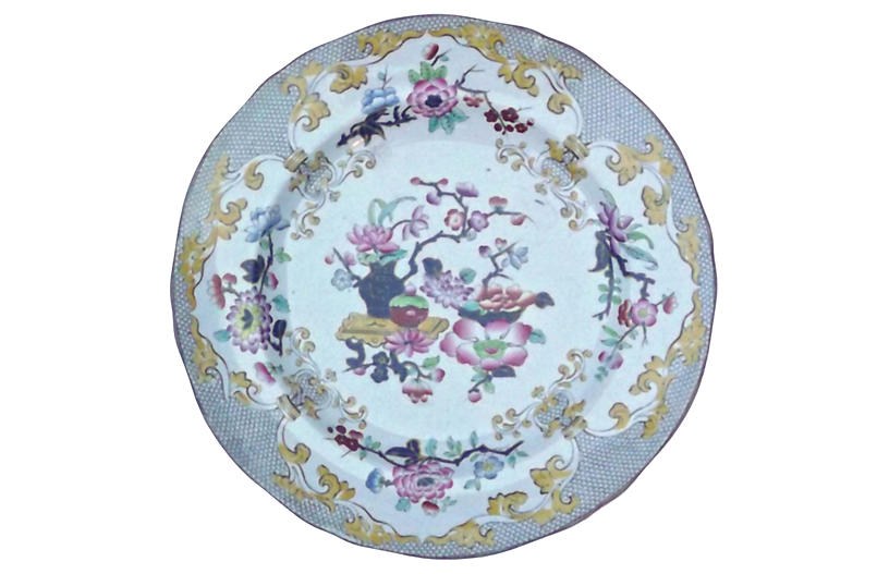 Antique Minton Porcelain Floral Plate