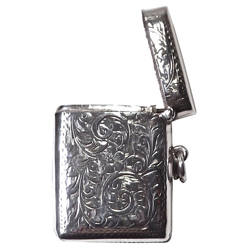 Acanthus Leaf Engraved S/S Match Safe