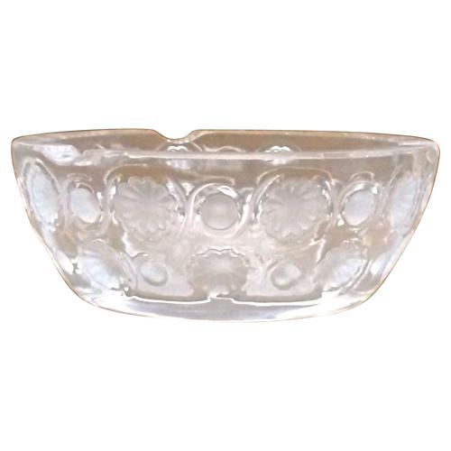 Tokyo Pattern Crystal Lalique Dish