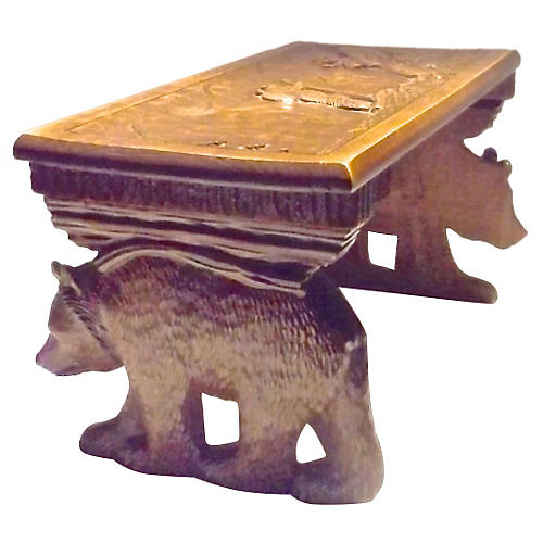 Black Forest Carved Folding Mantel Shelf