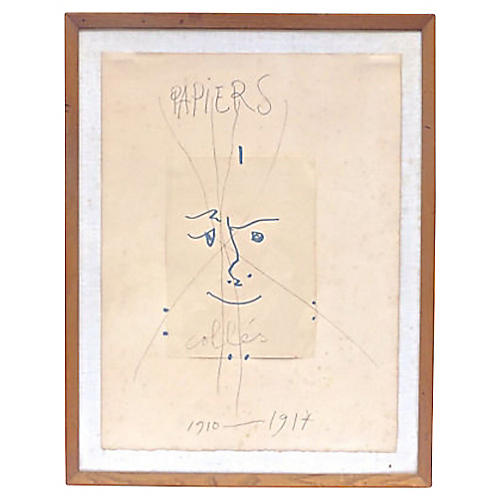 1960s Papiers Colles by Picasso