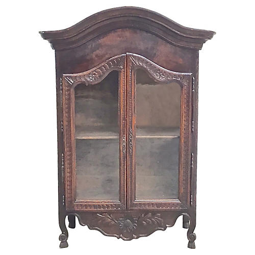 French Hand-Carved Hanging Vitrine