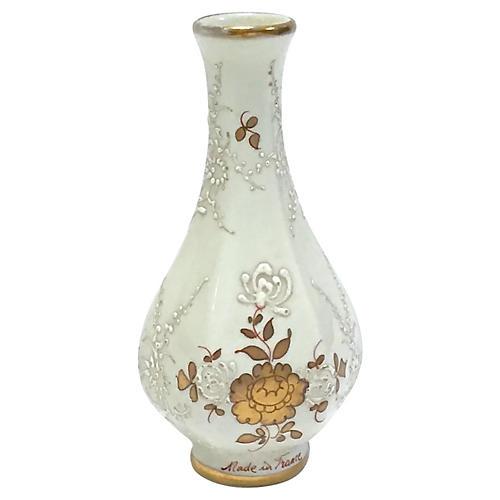 Antique French Porcelain Floral Vase