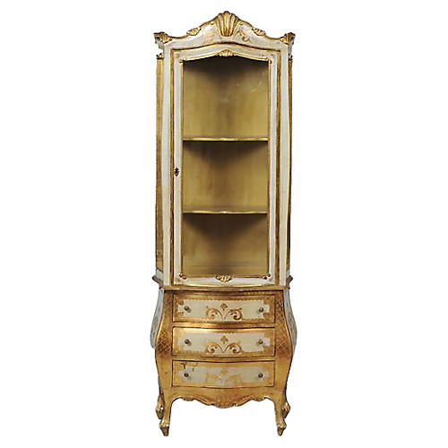 Florentine Rococo-Style Gilt Vitrine