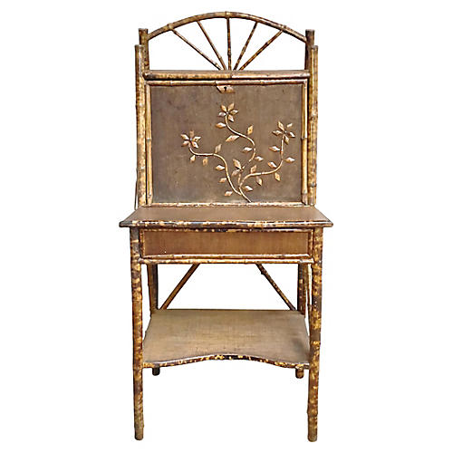 Antique Bamboo Secretary