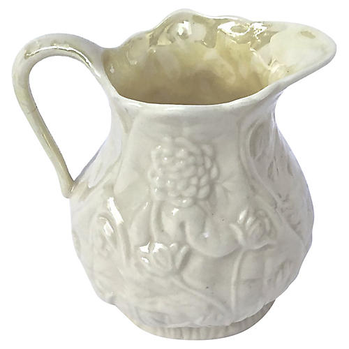 Antique Floral Creamer