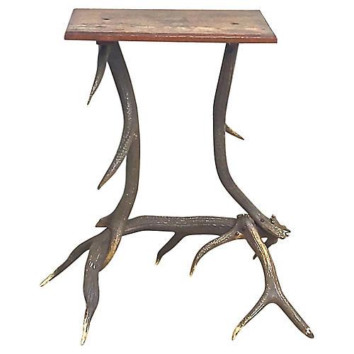 Antique Antler Side Table