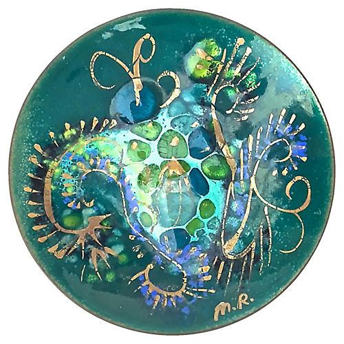 Midcentury Abstract Dish
