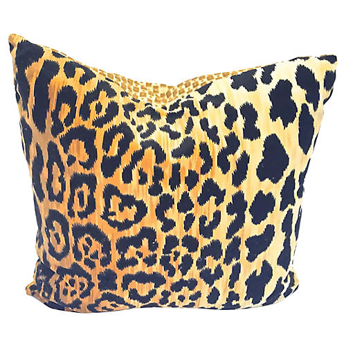 Velvet Leopard Pillow