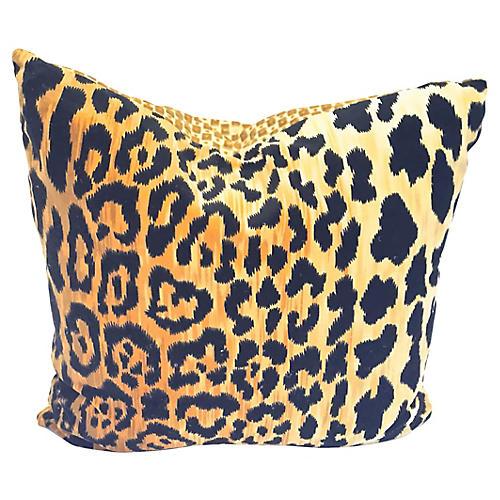 Velvet Leopard Pillow