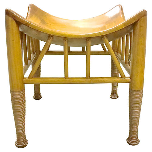 Midcentury Thebes-Style Bench