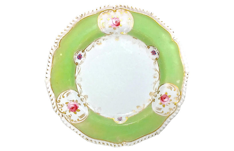 Antique Bloor Derby Floral Plate