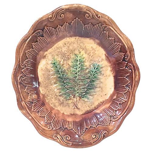 Antique Majolica Fern Bowl