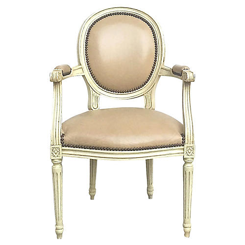 Medallion Back Louis XVI Armchair