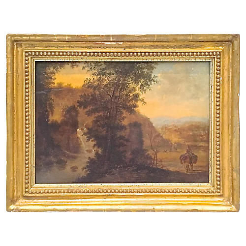 F. Bate Signed Irish Landscape Painting