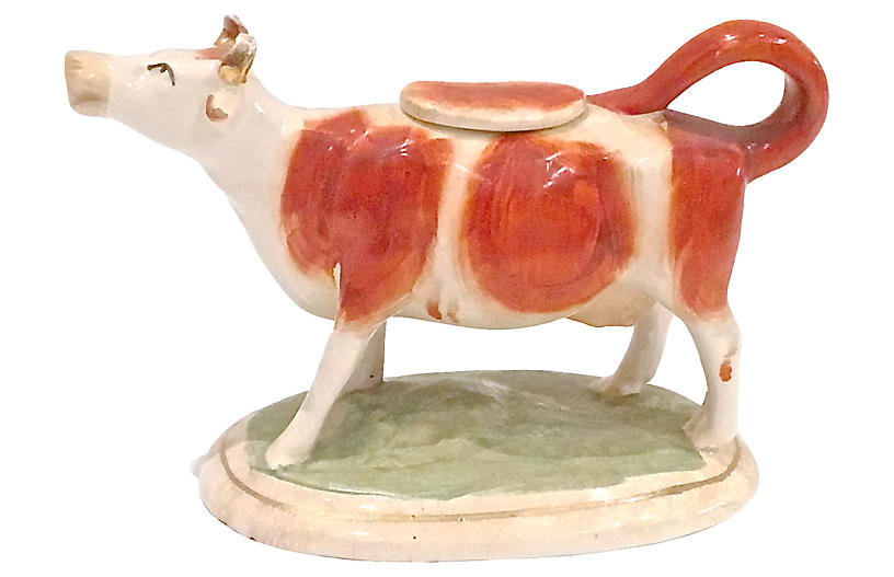 English Staffordshire Cow Creamer