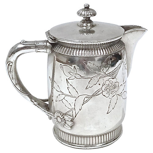 Aesthetic Movement Silver-Plate Creamer