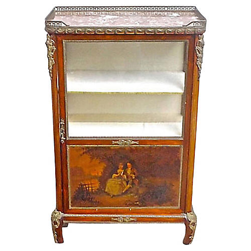 French Hand-Painted Vitrine