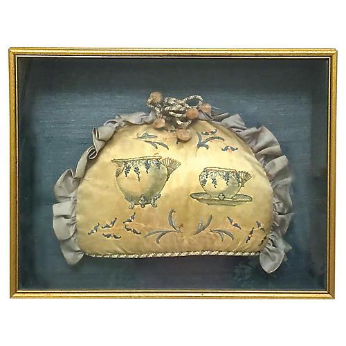 Antique Framed Silk Tea Cozy