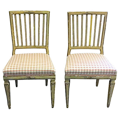Antique Painted Gustavian Chairs