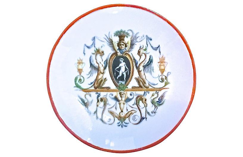 Italian Porcelain Mythical Theme Plate