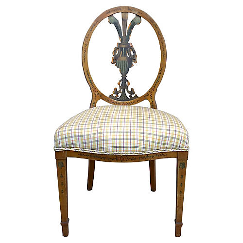 Antique Medallion-Back Side Chair