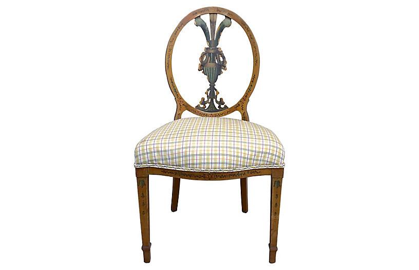 Antique Medallion-Back Side Chair