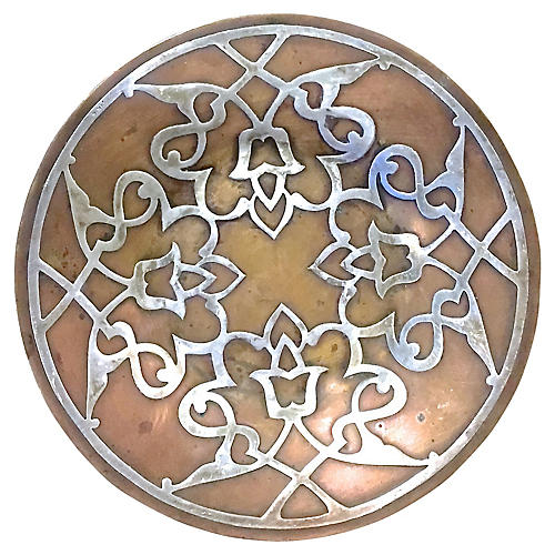 Antique Sterling & Copper Plate