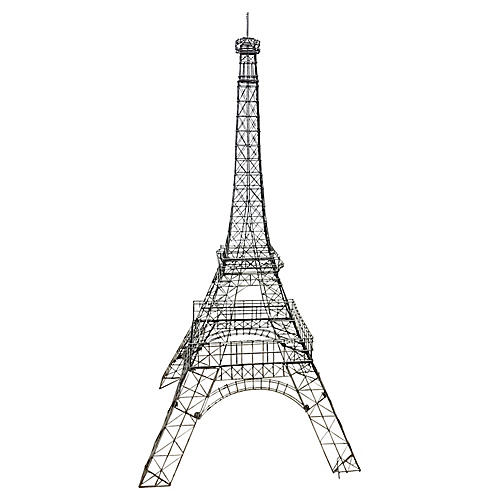Large Wire Eiffel Tower Sculpture